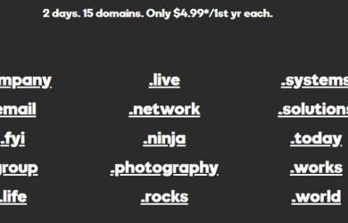 godaddy 15 domains for 4usd each