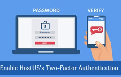 enable hostus 2fa use google authentication