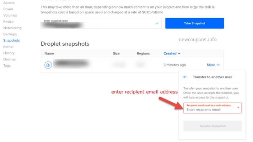 How to Move Droplet Between Accounts on DigitalOcean?