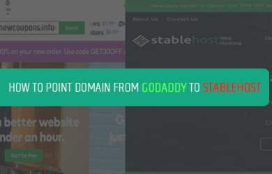 setup godaddy domain to stablehost hosting