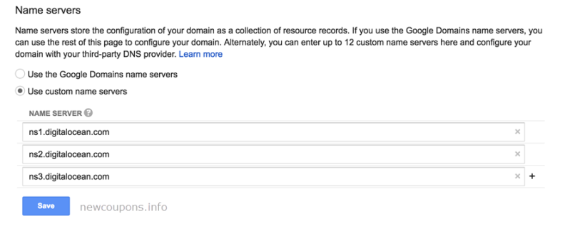 How to point Google Domains to DigitalOcean Droplet ?