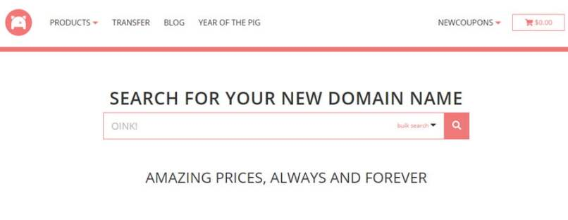 Get .COM For Only $3 at Porkbun - Free WHOIS Privacy