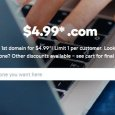 Godaddy $4.99 .Com coupon