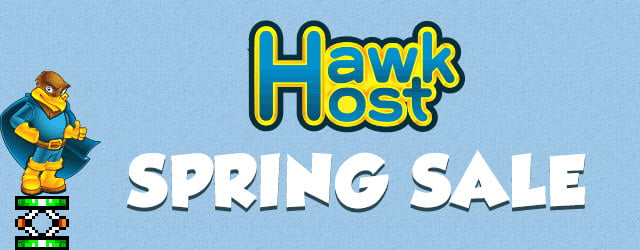 HawkHost Spring Flash Sale! Discounts Up To 60% Off Web Hosting