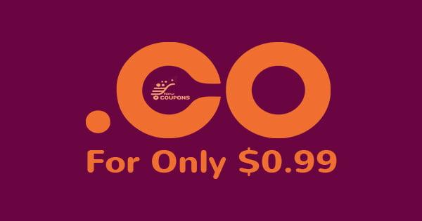 $0.99 .CO New Registrations & Backorders At SAV.com
