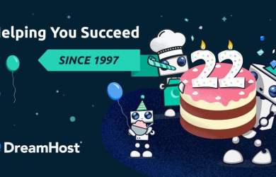 dreamhost 22nd brithday deals