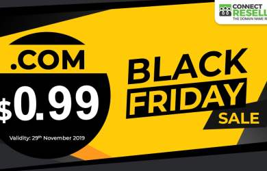 ConnectReseller Black Friday $0.99 .COM Sale