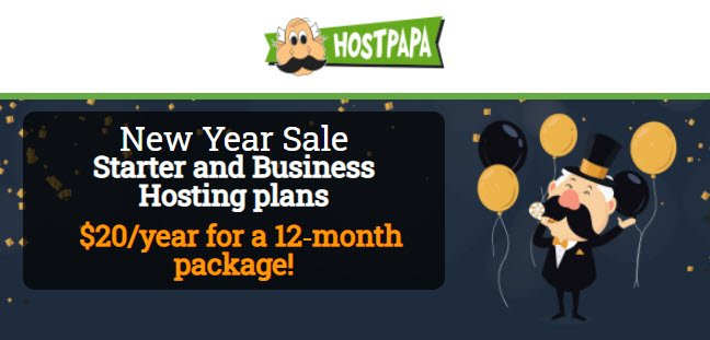HostPapa New Year Sale! Only $12/Year For Web Hosting