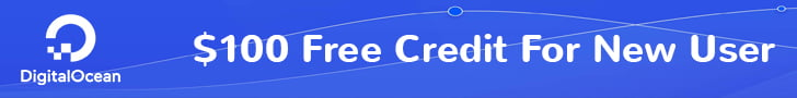 Create a new account and receive free $100 at DigitalOcean!