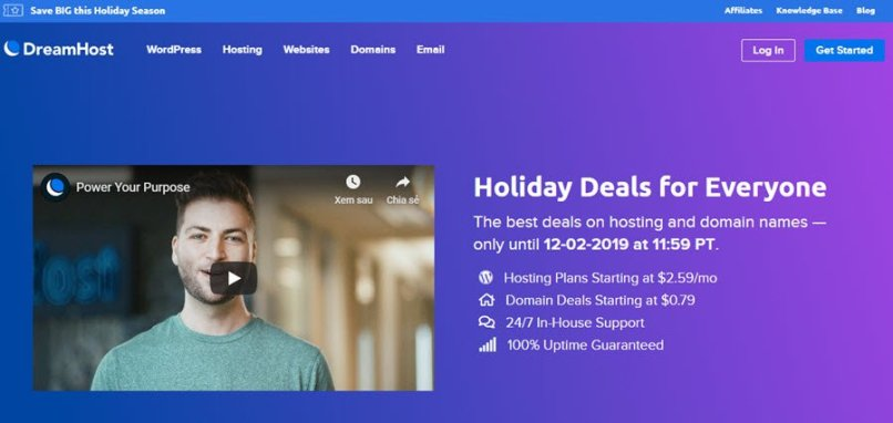 DreamHost Holiday 2019 Sale - Up to 54% Web Hosting