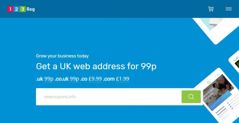 Grab a .COM for only £1.99 at 123-Reg