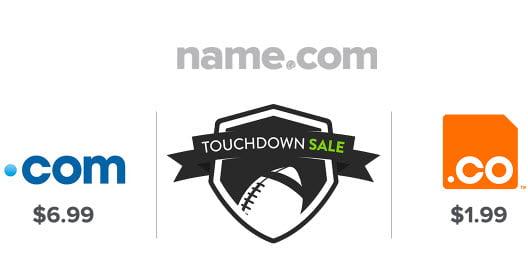 Name.Com TLD On Sale! As Low As $1.99 - Including .COM .NET