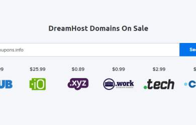 dreamhost domains on sale