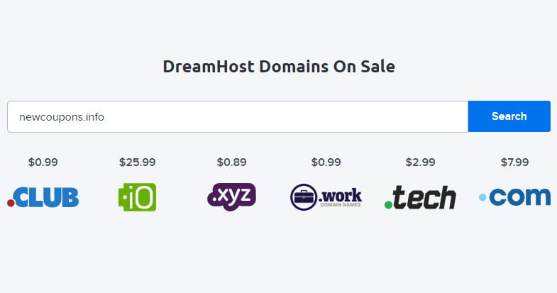 DreamHost Cheap Domains - Registration Starting At $0.89