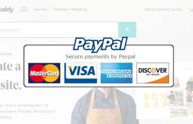 godaddy accept paypal