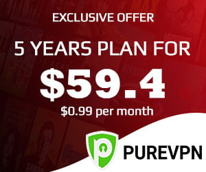 Get PureVPN 5 Year Plan For $0.99 Per Month