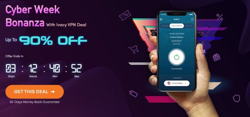 90% OFF | Ivacy VPN 5 Year Plan For $59.4 - $0.99/Mo