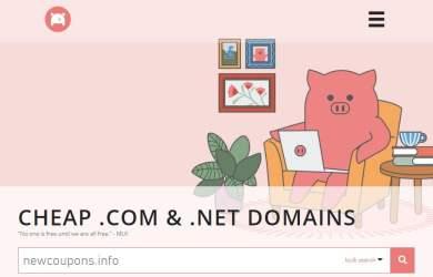 com & net on sale at porkbun
