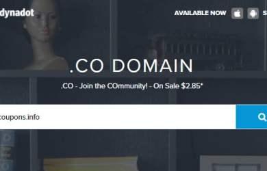 dynadot $2.85 .co domain offer