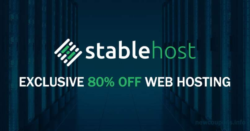 StableHost Exclusive Coupon - Up To 80% OFF + Free Domain