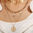 3-Piece Coin & Pearl Necklace for $10
