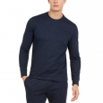 Alfani Men's Classic-Fit Stretch Stripe Knit Sweatshirt Black Size Extra Large for $94
