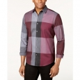 Alfani Men's Plaid Long-Sleeve Shirt Classic Fit Red Size Large for $94
