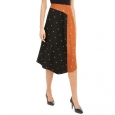 Alfani Women's Asymmetrical Twin-Print Skirt Brown Size 8 for $94