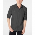 American Rag Men's Micro Herringbone Shirt Black Size Medium for $94