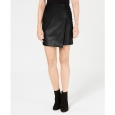 Bar III Women's Faux-Leather Skirt Black Size Small for $94