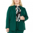 Bar III Women's Trendy Plus Size Stretch Blazer Green Size 24 for $119