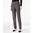 Charter Club Women's Petite Cambridge Tummy-Control Slim-Leg Pants Gray Size 12 for $94