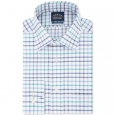 Eagle Men's Classic Fit Non-Iron Flex Collar Check Dress Shirt Blue Size 17-32-33 for $94