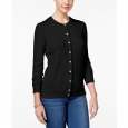 Karen Scott Women's Bead-Button Cardigan Black Size 2 Extra Large for $94