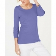 Karen Scott Women's Cotton Top Purple Size 2 Extra Large for $23