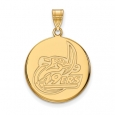 NCAA 10k Yellow Gold North Carolina at Charlotte Large Disc Pendant for $510
