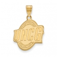 NCAA 14k Gold Plated Silver North Carolina at Greensboro Large Pendant for $61