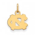 NCAA 14k Gold Plated Silver North Carolina XS Charm or Pendant for $30