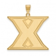 NCAA 14k Gold Plated Silver Xavier U. XL Pendant for $86