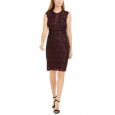 Nightway Women's Metallic Lace Sheath Dress Purple Size 12 for $119