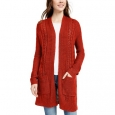 Pink Rose Juniors' Eyelet Long Cardigan Red Size Large for $94