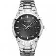 Seiko SNE429 Mens Silver Core Solar Watch for $294
