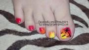 orange beach toenail design