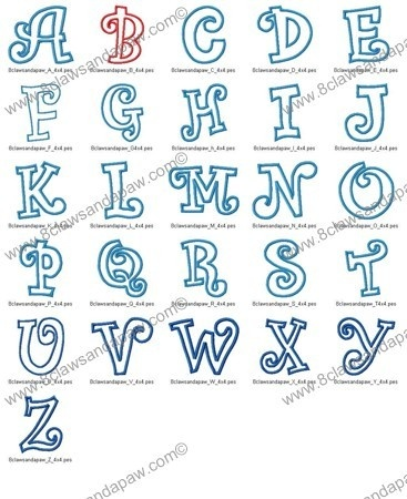 10 Chunky Applique Font Images Embroidery Applique