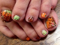 15 Fall Toenail Designs Images - Fall Toe Nail Art Designs ...