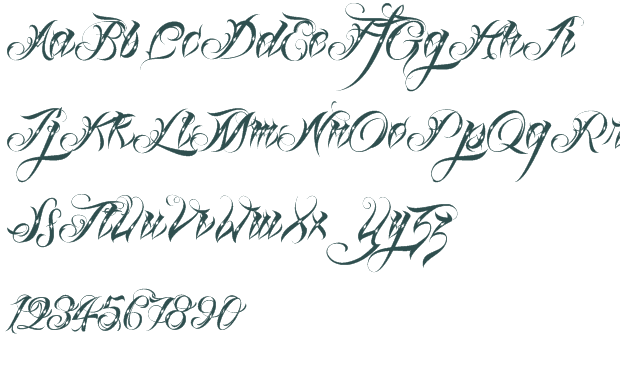 Old English Font - Old English Tattoo Font Generator