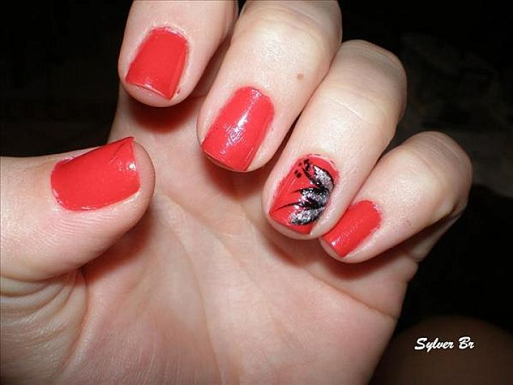 16 Red And Silver Nail Designs Images
