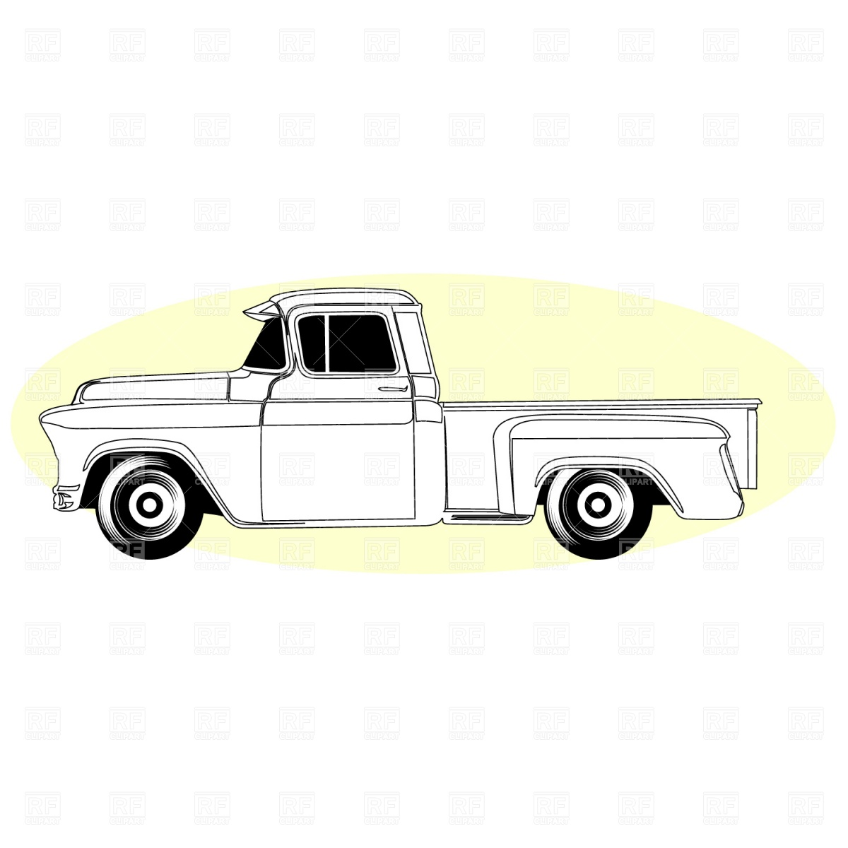 hight resolution of pick up truck clip art
