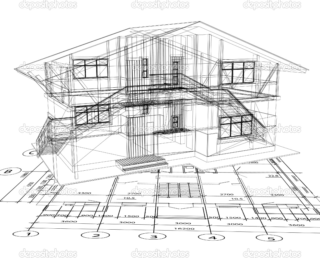 13 Vector House Blueprint Images