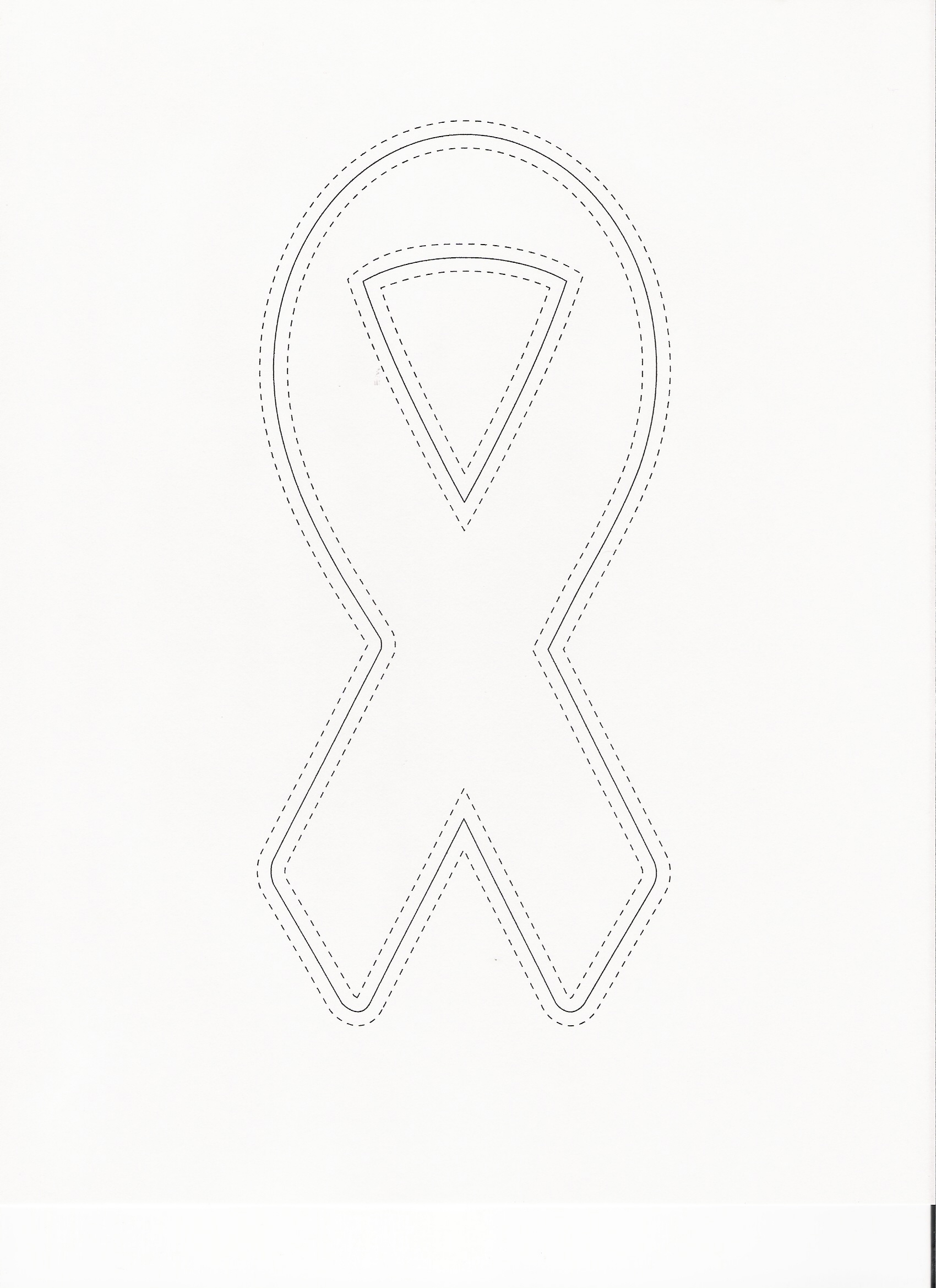 Cancer Ribbon Template